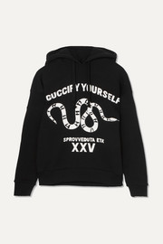 Gucci Oversized printed cotton-jersey hoodie