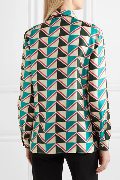 d79c907e1ab Gucci. Pussy-bow printed silk-twill shirt. £980. Play