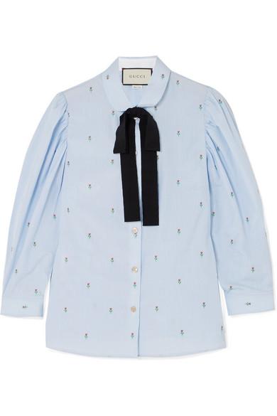 Gucci Hemd aus Baumwolle mit Fil Coupé und Ripsbandschluppe Rabatt Angebot Billig Vorbestellung CdsfUcxM