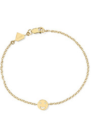 Happy 14-karat gold diamond bracelet