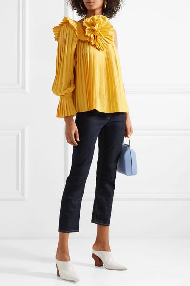 Rosie Assoulin Oberteil aus plissierter Popeline mit asymmetrischer Schulterpartie Rabatt Veröffentlichungstermine Bester Großhandel Günstig Online FhYv7