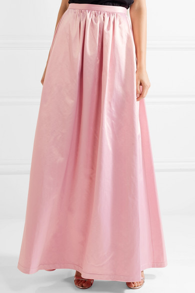 Fold Rosie Assoulin Maxi Skirt Satin From A Cotton Blend With