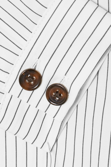 Sandy Liang Hemd aus Baumwollpopeline mit Nadelstreifen und Bindedetails