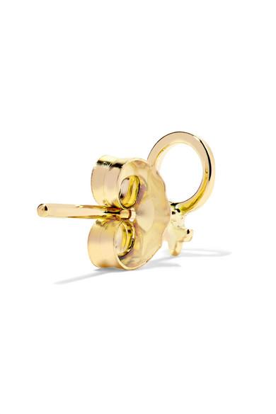 Alison Lou Girl Power 14 Karat Gold Earring Net A Porter Com