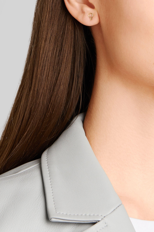 Alison Lou Girl Power 14-karat gold earring
