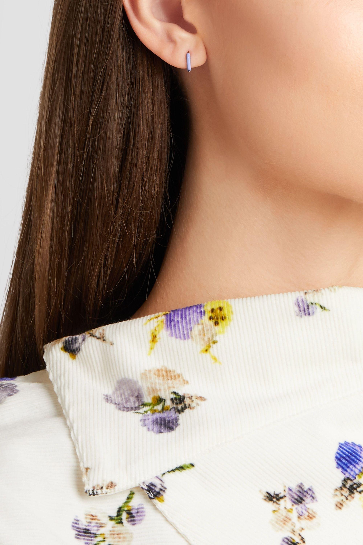 Alison Lou Huggy enameled 14-karat gold earring