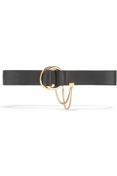 Textured-leather Belt - Black Chlo? KhsEL