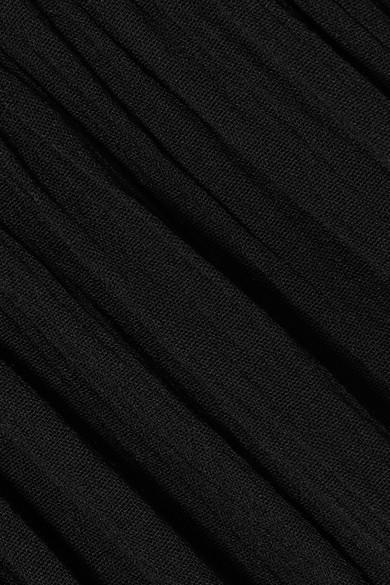 Sensi Studio Schulterfreies Maxikleid aus Voile in Knitteroptik