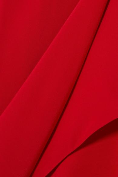 Michelle Mason Wickelkleid aus Crêpe de Chine aus Seide mit asymmetrischer Schulterpartie