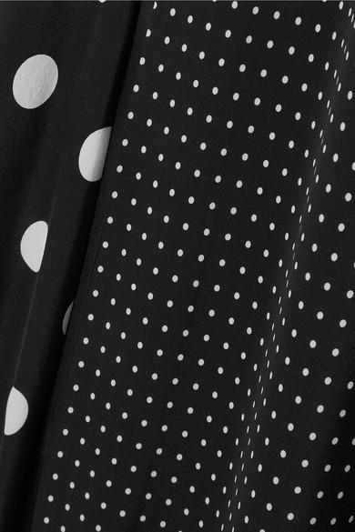 Michelle Mason Seidenrobe mit Polka-Dots