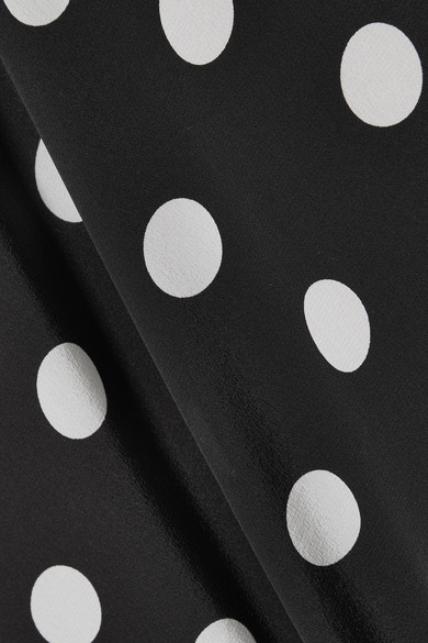 Michelle Mason Minikleid aus Seide mit Polka-Dots