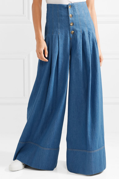 SEA Hoch sitzende Jeans mit weitem Bein