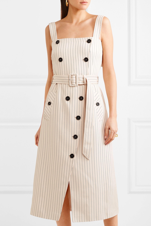 Altuzarra Audrey button-detailed ottoman midi dress
