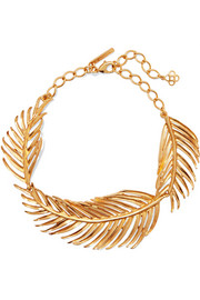 Oscar de la Renta Gold-tone necklace