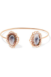 Kimberly McDonald 18-karat rose gold, geode and diamond cuff