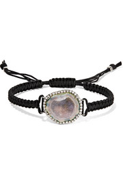 Kimberly McDonald 18-karat blackened white gold, geode and diamond bracelet