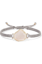 Kimberly McDonald 18-karat gold, geode and diamond bracelet