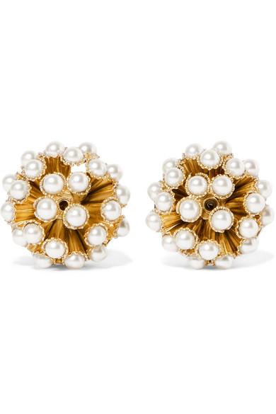 Stella Gold-tone Clip Earrings - one size Rosantica Ispljloj