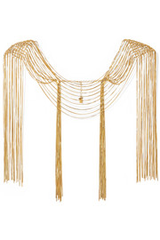Aquilone fringed gold-tone body chain