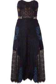 Corded and Leavers lace midi dress