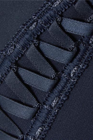 Jonathan Simkhai Kleid aus Stretch-Crêpe mit Schnürungen
