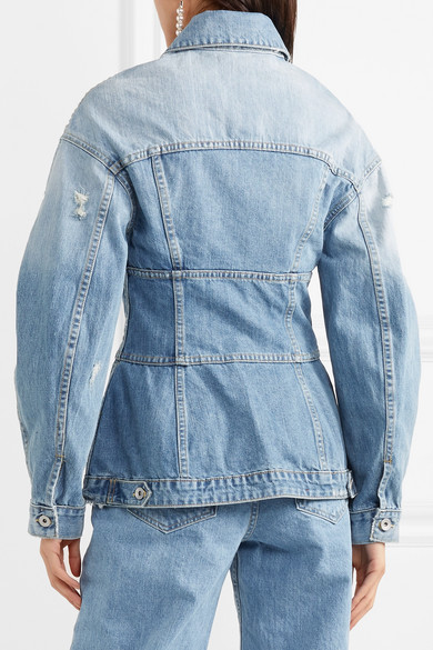 Jonathan Simkhai Denim Jacket With Peplum