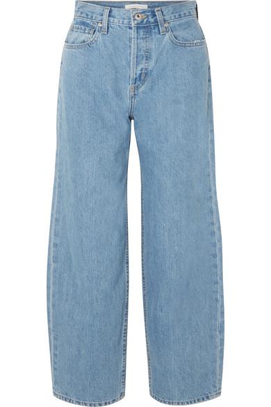 Jonathan Simkhai Nana hoch sitzende Jeans mit weitem Bein