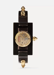Plexiglas and gold-tone watch