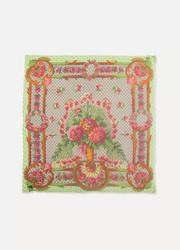 Gucci Frayed printed modal and silk-blend scarf