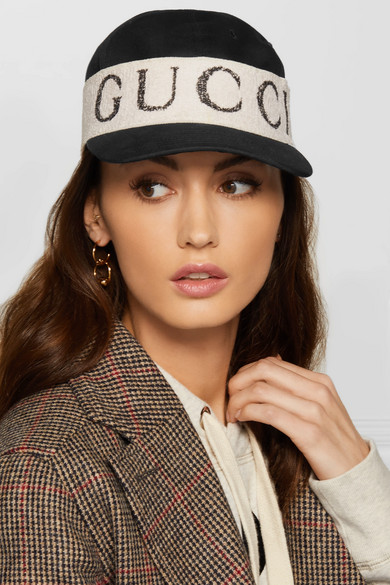 Gucci Hats Cotton-twill and printed terry baseball cap