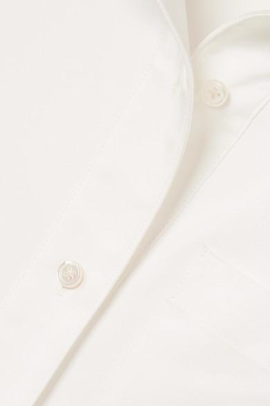 ADEAM Satinhemd aus einer Baumwollmischung mit Bändern