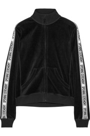 Cotton-blend velvet track jacket