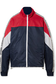 Warm Up color-block shell jacket