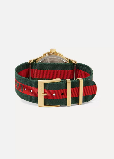 5ee80d3bb4b Gucci. Canvas and gold-tone watch
