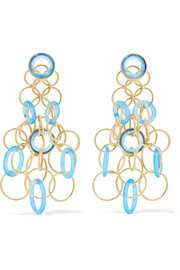 Hawaii 18-karat gold chalcedony earrings