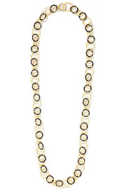 Hawaii 18-karat gold onyx necklace