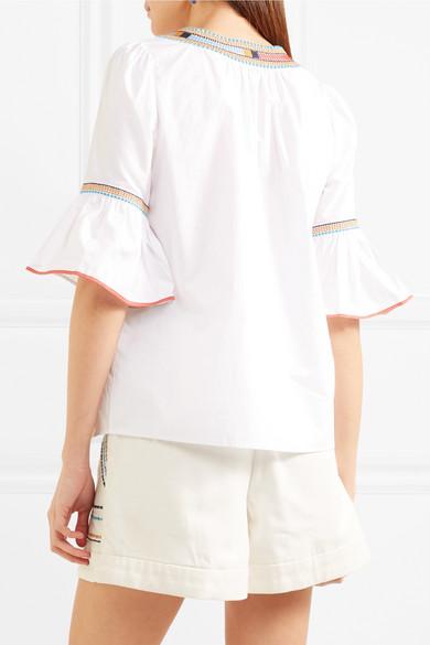 Talitha Priya bestickte Bluse aus Baumwolle