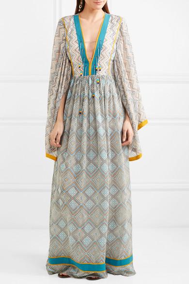 Talitha Maghreb Maxikleid aus bedrucktem Seiden-Georgette