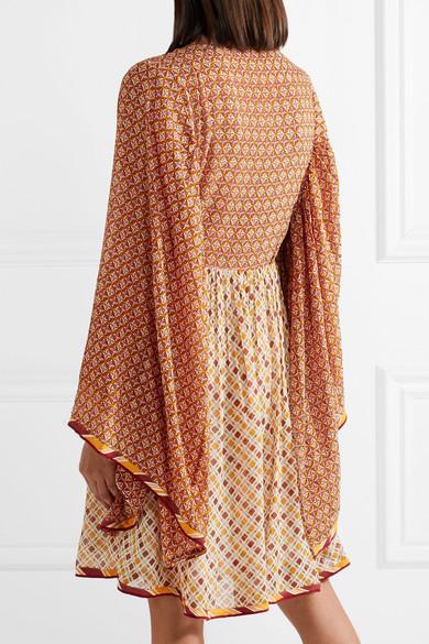 Talitha Jasmin Kleid aus bedrucktem Chiffon mit Schnürung
