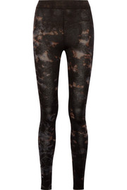 Raquel Allegra Tie-dyed stretch cotton-blend jersey leggings