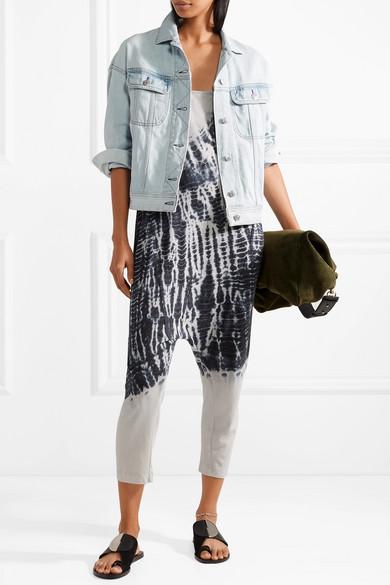 Raquel Allegra Jumpsuit aus Jersey aus einer Baumwollmischung mit Batikmuster
