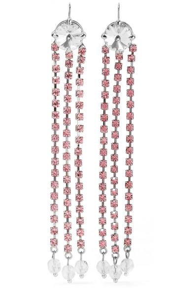 Miu Miu - Silver-tone Crystal Earrings