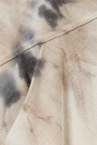 Raquel Allegra Oversized-Kleid aus Jersey aus einer Baumwollmischung mit Batikmuster