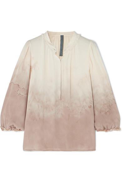 Freies Verschiffen Neue Stile Billig Heißen Verkauf Raquel Allegra Bluse aus Seiden-Georgette mit Batikmuster Günstigsten Preis Günstig Kaufen Mode-Stil Günstig Kaufen 100% Authentisch NiZrHrU
