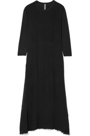 Raquel Allegra Cotton-gauze and jersey maxi dress