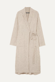 Raquel Allegra Striped jacquard robe