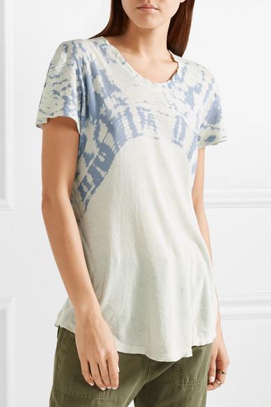 Raquel Allegra Oversized T-Shirt aus Baumwoll-Jersey mit Batikmuster