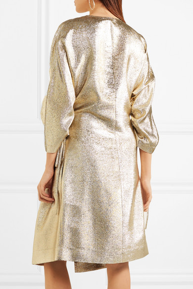 Stella McCartney Gali Kleid aus Lurex® mit Raffungen