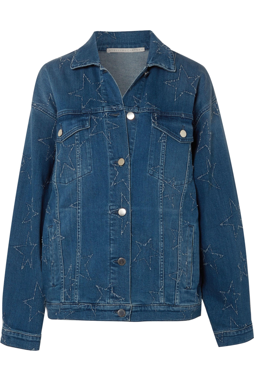 Stella McCartney Oversized distressed denim jacket