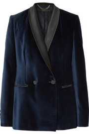 Stella McCartney Satin-trimmed velvet tuxedo blazer